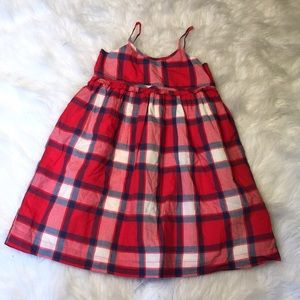 🦋 Gap Plaid girls sundress size 4